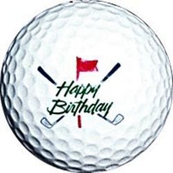 Happy Birthday Golf Ball