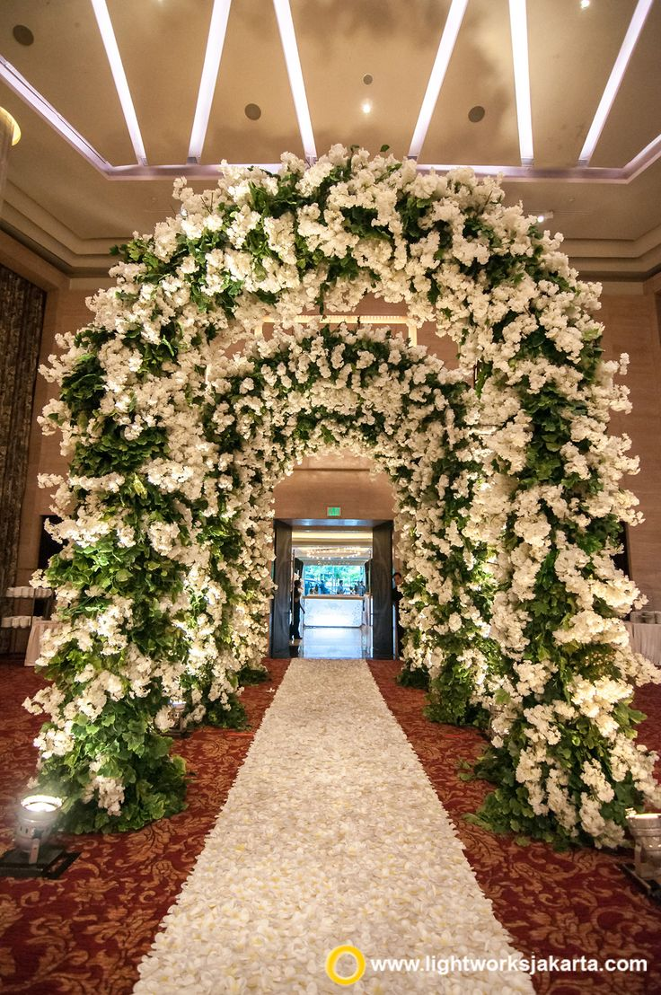 272 best wedding decoration and lighting images on pinterest beautiful wedding gate created by lotus design with lightworks as the lighting designer for christian junglespirit Gallery