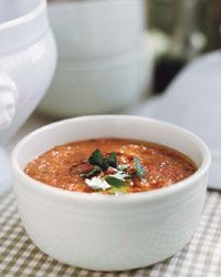 Smoky grilled gazpacho is a great idea for Phase 3 of the #FastMetabolismDIet. Char the tomatoes, cucumbers, and peppers over an open flame, then puree with olive oil and spike with vinegar and herbs.