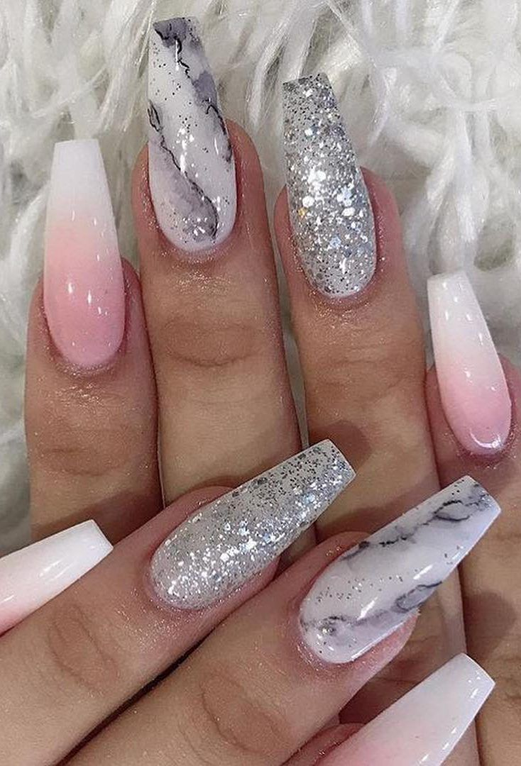 39 Hottest Awesome Summer Nail Design Ideas For 2019 Part 17 Nail Designs Summer White Acrylic Nails Marble Nail Designs