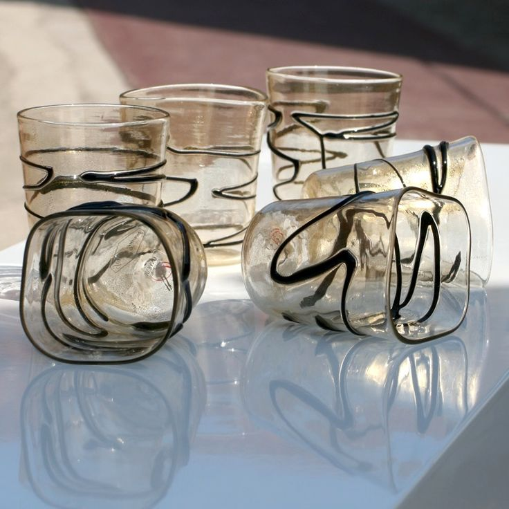 COATED 6 Pcs Drinking Set by SEGUSO GIANNI #yourmurano #glassart #shopping