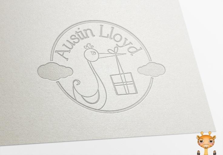 #logo #stork #baby #onegiraphe