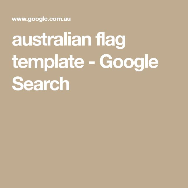 australian flag template - Google Search