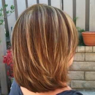 growing out the Bob- model Amber