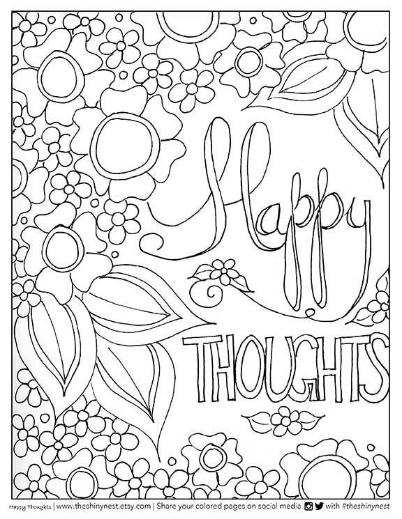 Free Adult Coloring Page and Coloring Video by Smitha Katti on www.smilingcolors.com