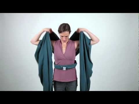 How to make a wrap baby carrier. This is a super cute idea!