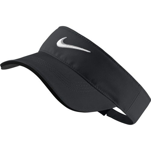 The Nike Tech Tour Adjustable Golf Visor features light Dri-FIT fabric and a cushioned sweatband to help keep you dry and comfortable on the course. [custom] Dri-FIT fabric helps keep you dry and comf