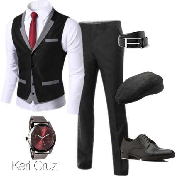 Style Set 4.3 I'd wear this but I'd wear it correctly. (You don't button the bottom button on your vest.)