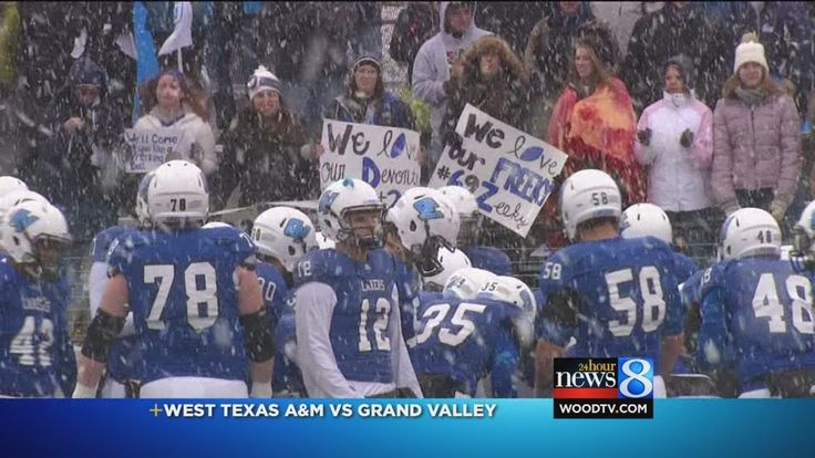 A news report from WoodTV 8 about GVSU moving on in the playoffs!
