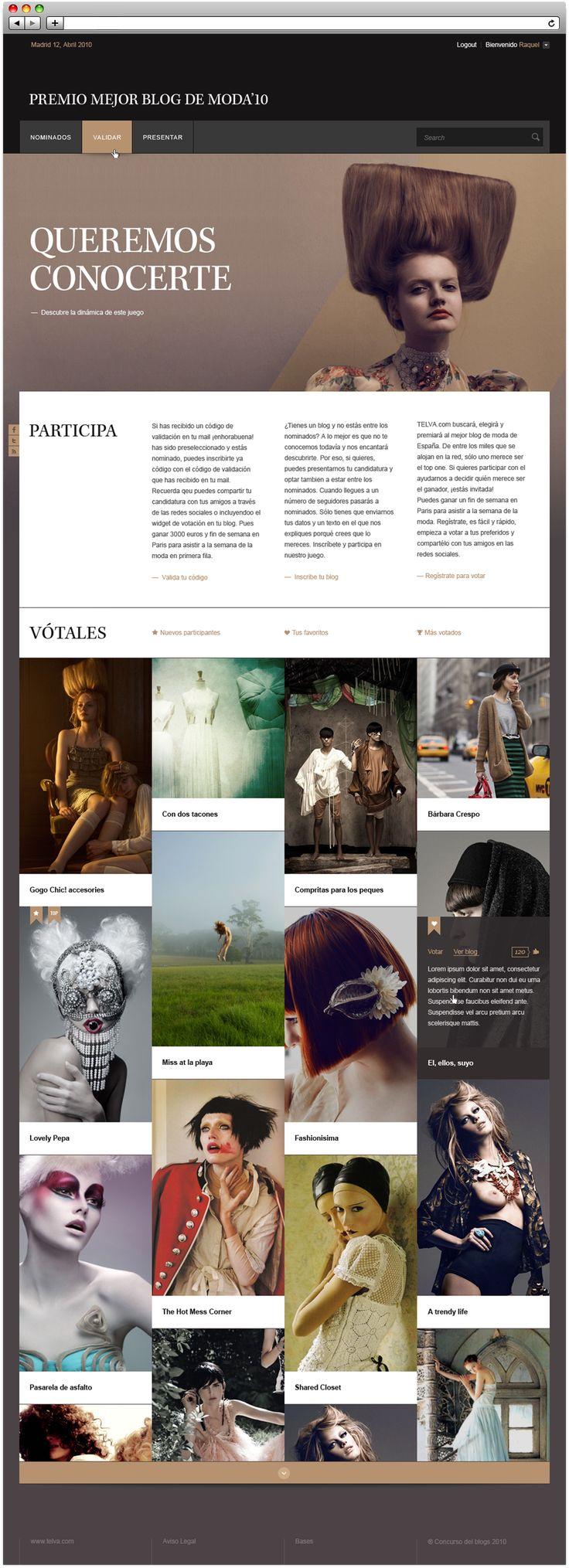 Telva Fashion Blog Contest #website