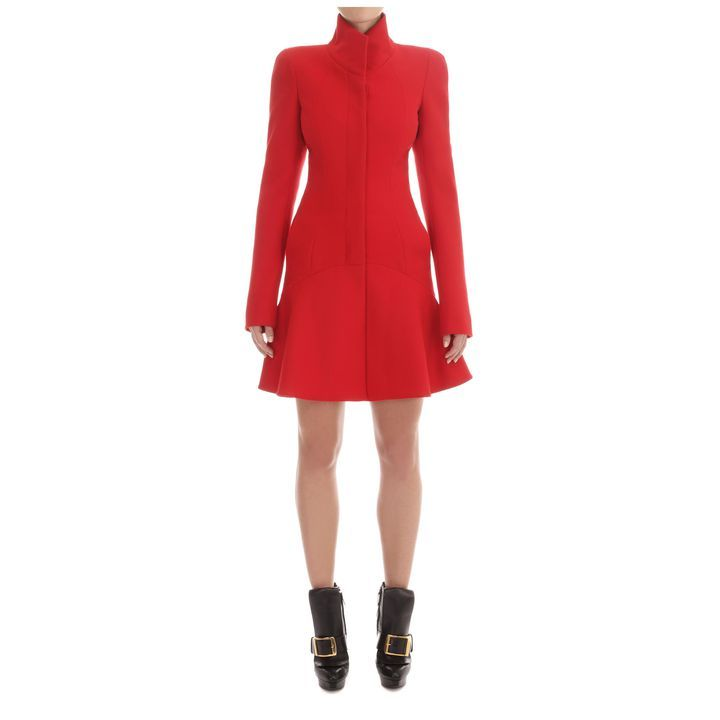 Alexander McQueen, Wave Panel Short  Dress Coat