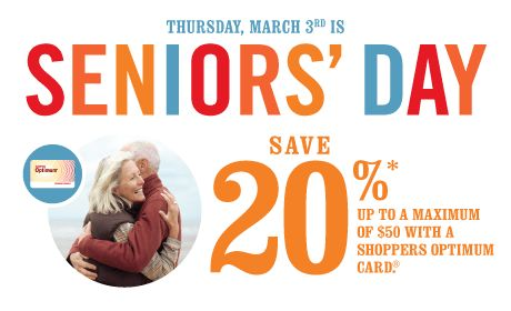 Seniors save more on October 17th!