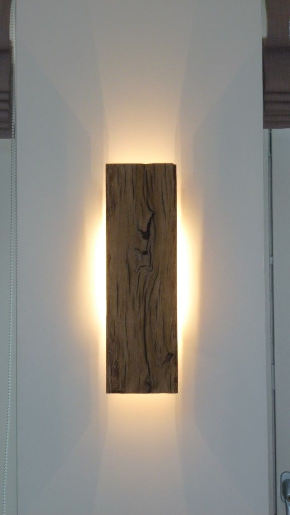 Wall lamp, Wood: Oak