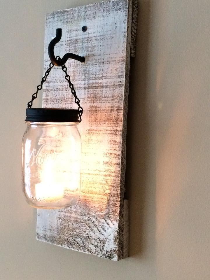DIY #Pallets and Mason jar Lamps   99 Pallets
