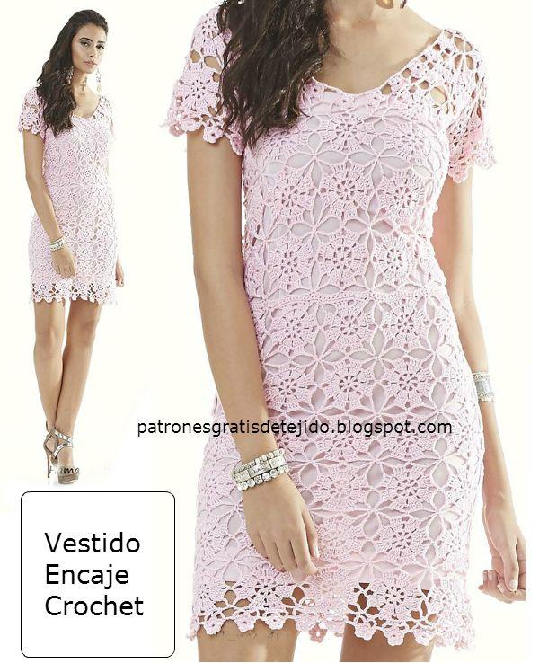 Contemporáneo Patrón De Vestido De Novia De Ganchillo Gratis ...