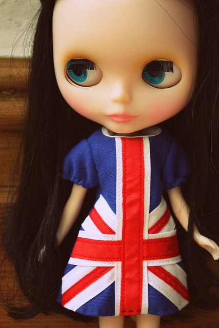 Melody modelling her union jack dress from Boutique du Lupi at Blythecon UK by Sweet Mary Hell, via Flickr