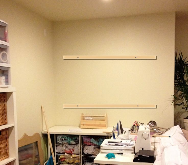 hanging a pegboard craft room