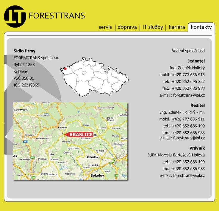 návrh webu * Foresttrans @ 2008