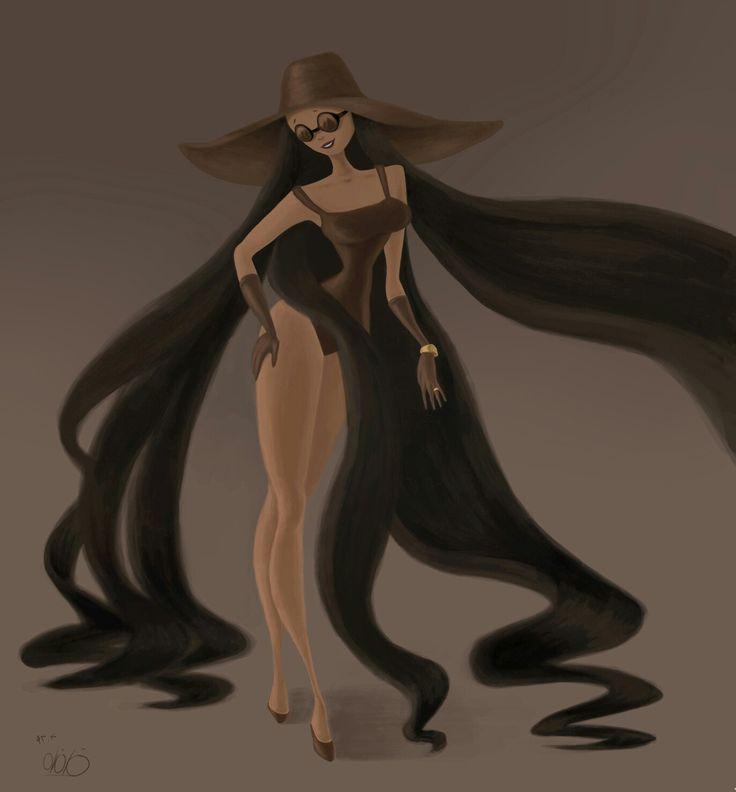 the weird girl at a fashion show  #weird #characterdesign #conceptart