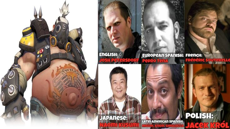 || The Many Faces Of Roadhog || Voice Lines Quotes - Overwatch Voice Actors