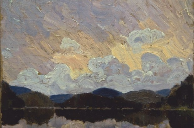Tom Thomson painting found at yard sale... I think it is Grand Lake, Achray, in Algonquin Park.