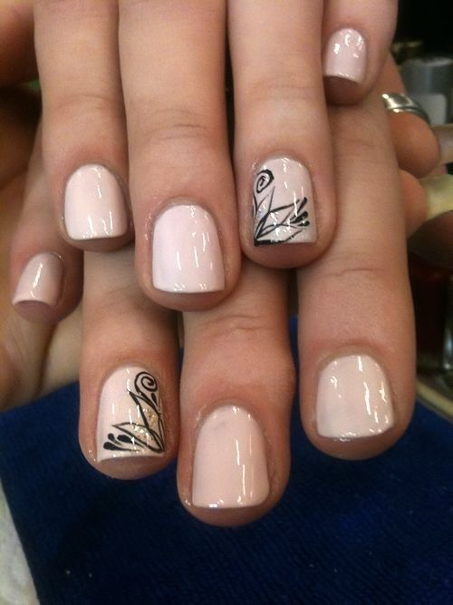 4. #Neutral and Glam - 34 Dynamic #Looks for Short Nails ... → Nails #Nails