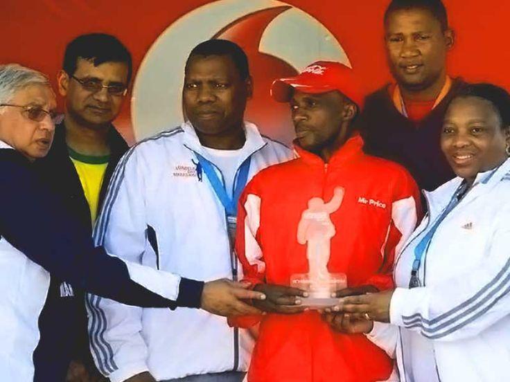 Inaugural #MandelaMarathon 2012 Brighton Chipere At Prizegiving