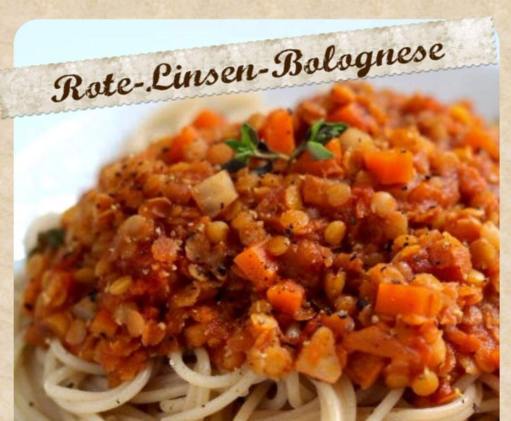 Rezept Rote-Linsen-Bolognese VEGAN von Inga_88 - Rezept der Kategorie Hauptgerichte mit Gemüse