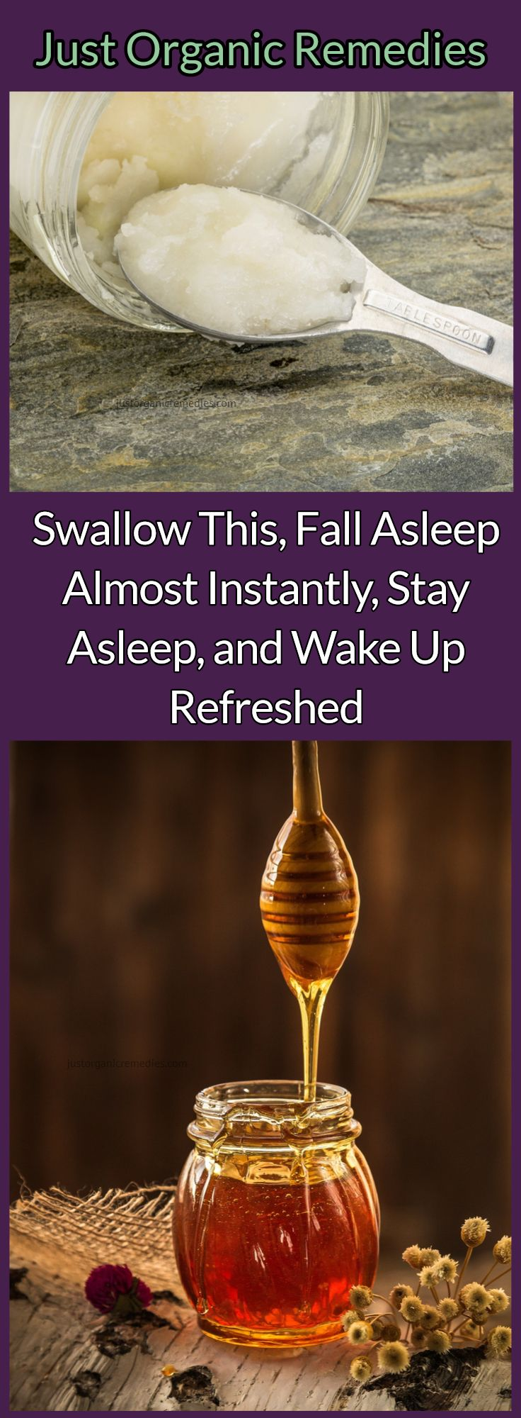 Millions of people worldwide face sleeping issues every single night. Millions of people suffer from insomnia as well, and it negatively affects their everyday life. However, you should not despair if you are one of them, as there is a completely natural remedy that will restore your sleep and will help you wake up fresh and in a good mood. #honey #coconutoil #seasalt #insomnia