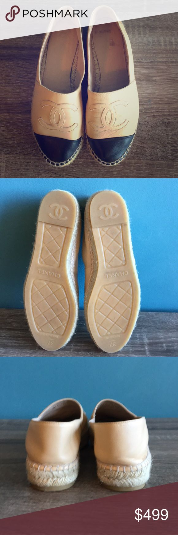 Chanel Lambskin Espadrilles Worn 3 times! Current season.  Still in stores and not on sale! Super comfortable and goes with everything! Make me an offer! CHANEL Shoes Espadrilles