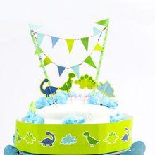 Бесплатная доставка динозавров торт ко дню рождения топпер рождения ну вечеринку украшения рождения детей ну вечеринку принадлежности душа ребенка мальчик(China (Mainland))