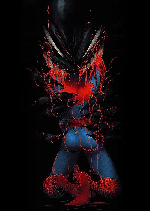 Venom vs Spider-Man by Kaare Andrews