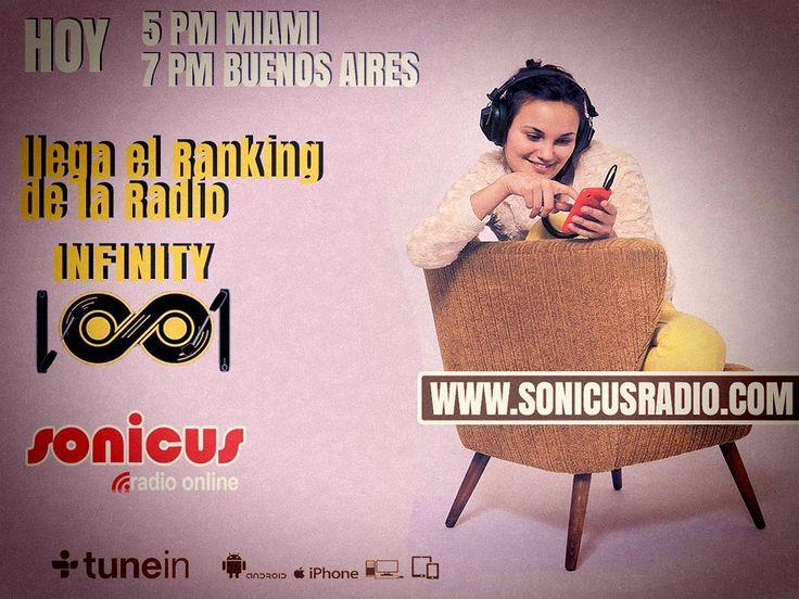 Ya llega el Ranking oficial de la Radio!! No te lo pierdas!! www.sonicusradio.com #radio #online #music #musica #pop #hits #top  #followme #miami #latinos #hot #party #trendy #artistas #ranking #chart #show  #fashiongram #musicislife #ilovemusic #losangeles #newyork #celebrity  #dominicana #argentina  #tunein