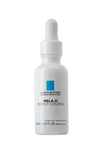 """Multi-Ingredient FormulationsMela-D utilizes glycolic and kojic acids to diminish those dark spots. Bonus: Glycolic acid is also a potent acne-fighter, so you're busting up those spots before they even start. La Roche-Posay Mela-D Pigment Control, $52.99, available at <a href=""""http://www.skinstore.com/p-17308-la-roche-posay-mela-d-pig..."""