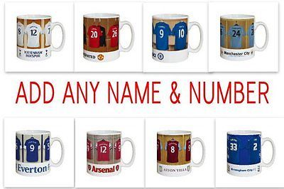 Personalised Football Shirt Dressing Room Mug Gift Idea – Christmas Offer