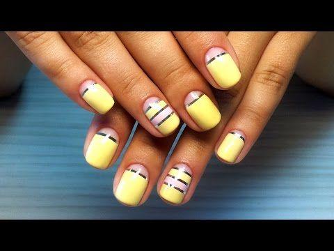 Дизайн ногтей гель-лак shellac - Декоративная лента (видео уроки дизайна ногтей) — Яндекс.Видео