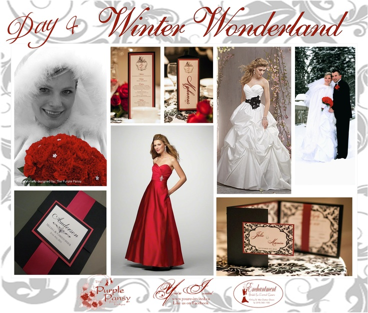 Day 4 of Inspiration Winter Wonderland Wedding The Purple Pansy www.purplepansy.ca, You're Invited www.youre-invited.ca, Enchantment Bridal www.enchantmentbr... Picture of You're Invited Invitations Enchantment Bridal Dresses & The Purple Pansy Floral Arrangements