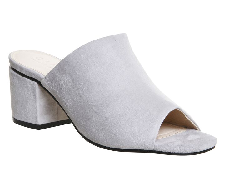 Buy Grey Suede Office Madness Block Heel Mule Sandals from OFFICE.co.uk.