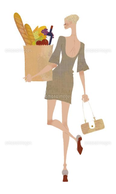 買い物 (c)Yuko Yoshioka
