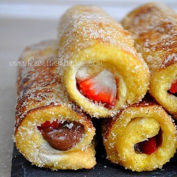 """Pain Perdu Roulé """" French Toast Roll Ups """""""