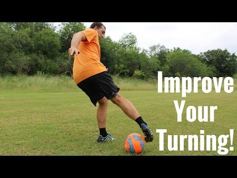 Soccer Drill To Improve Your Turning With The Ball - YouTube