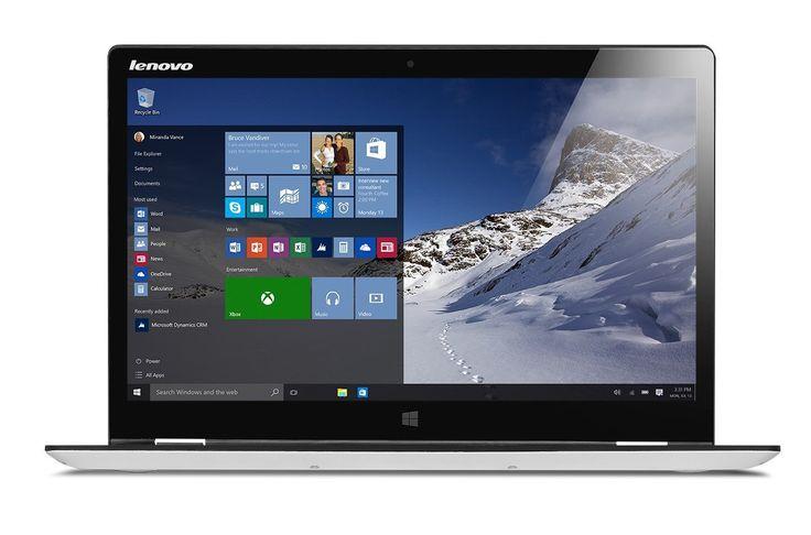 """Lenovo Yoga 710-14ISK Ordinateur portable hybride tactile 14"""" FHD Gris Argenté"""