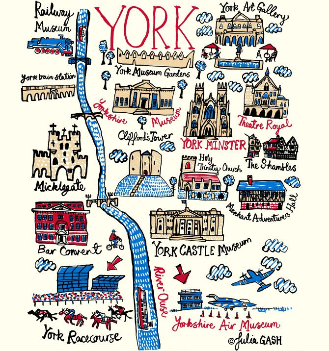 York is rich in architectural heritage and Julia gives us a snap shot of these wonderful sights in her Cityscape of a British, northern city, that's also a popular tourist attraction. Medieval Britain is featured through the wonderful structure of Micklegate as well as Cliffords Tower, that sits on top of a pudding like hill, filled with blue dots to denote grass...