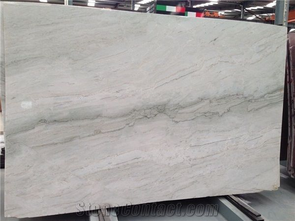 Sea Pearl Quartzite For White Cabinets And Bold