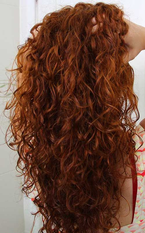 25 Gorgeously Long Curly Hairstyles: #5. Hairstyle with Red Curly Hair