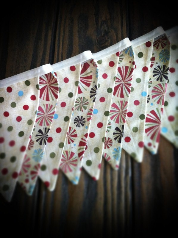 Rustic Fabric Bunting, Pennant Banner via Etsy.