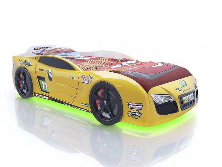 Кровать-машина Romack Renner 2 желтая