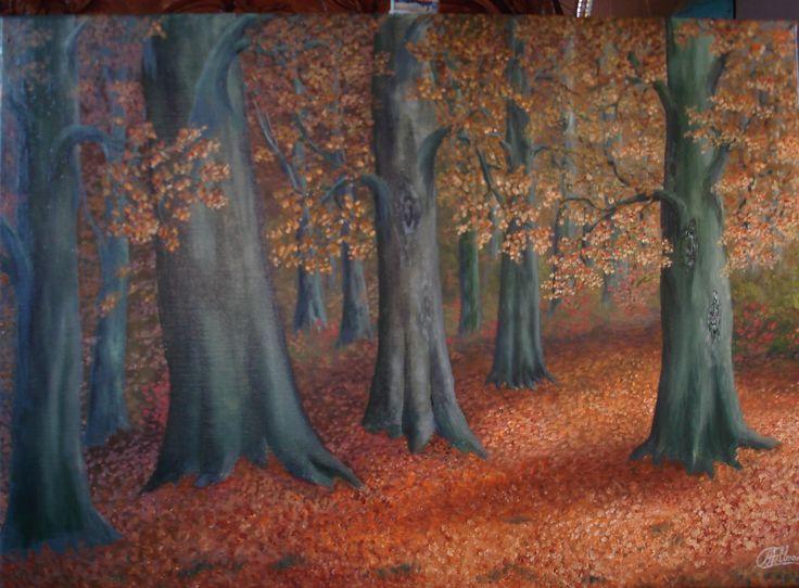 1000 idee n over bos schilderij op pinterest dennenboom kunst natuurschilderijen en boom kunst - Foto van slaapkamer schilderij ...