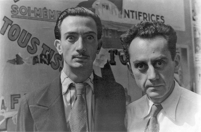 Salvador Dali with Man Ray- surrealist artists.