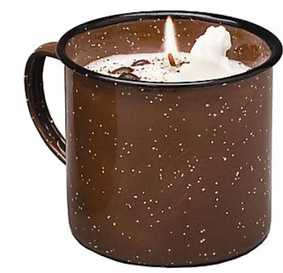 Swan Creek Candle Company® Vintage Enamelware Mug Candle. Clean-burning, triple-scented and deliciously fragrant, these delightful candles feature premium 100% American Soybean Wax™ and are a perfect addition to your décor. Hand-crafted with festive accents.  Fragrance: Roasted Espresso.
